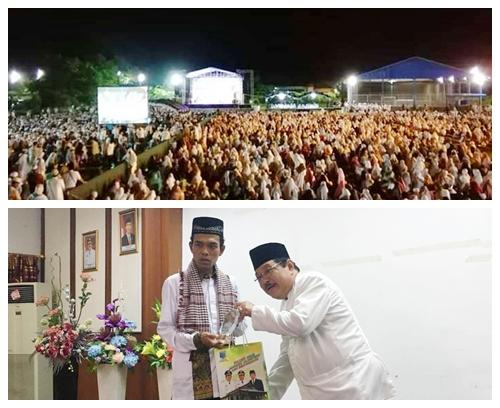 Ribuan Warga Hadiri Tausiyah Ustaz UAS di Dua Tempat