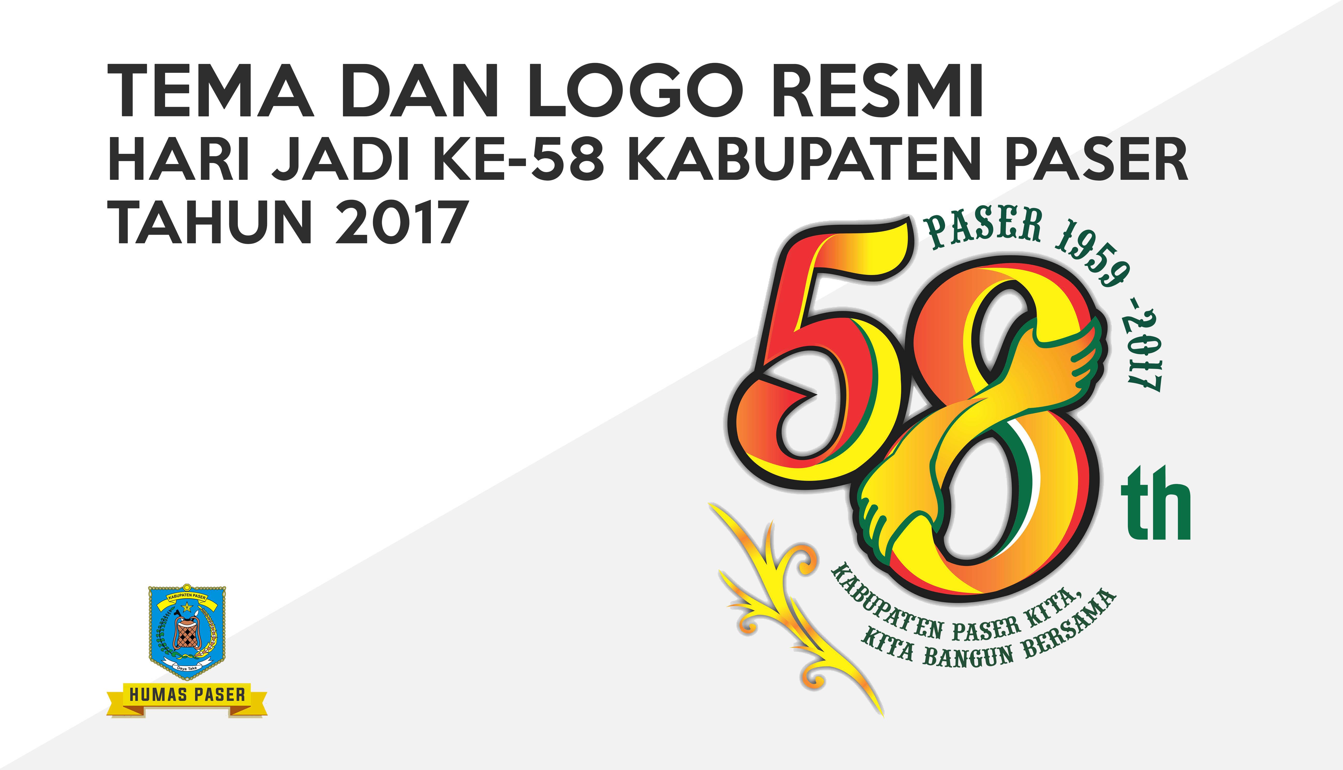 DOWNLOAD TEMA DAN LOGO RESMI HARI JADI KE-58 KABUPATEN PASER TAHUN 2017