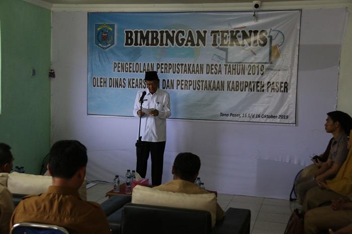 Wabup: Bimtek Petugas Perpustakaan  Desa Berikan Pencerahan Warga di Desa