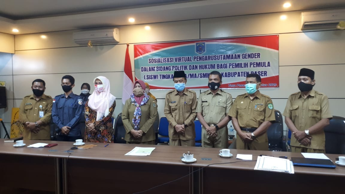 Upaya Tingkatkan Partisipasi Pemilih Pemula, Dinas PPKBP3A Gelar Sosialisasi Pengarusutamaan Gender Bidang Politik