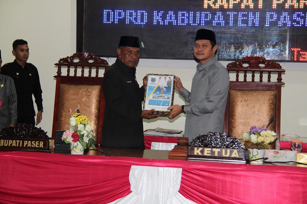 Sekda Sampaikan LKPj Bupati 2019 di Rapat Paripurna DPRD