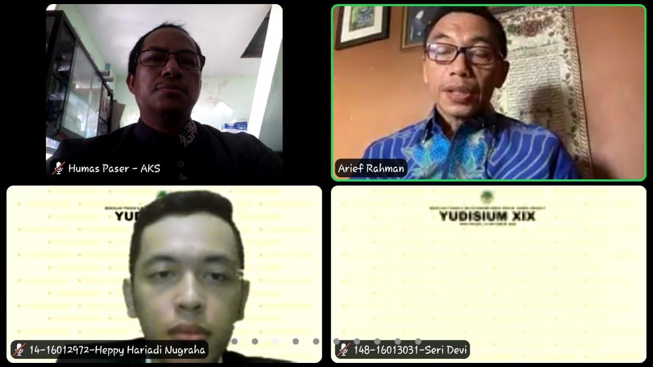 Yudisium Mahasiswa STIE WP Melalui Virtual Meeting