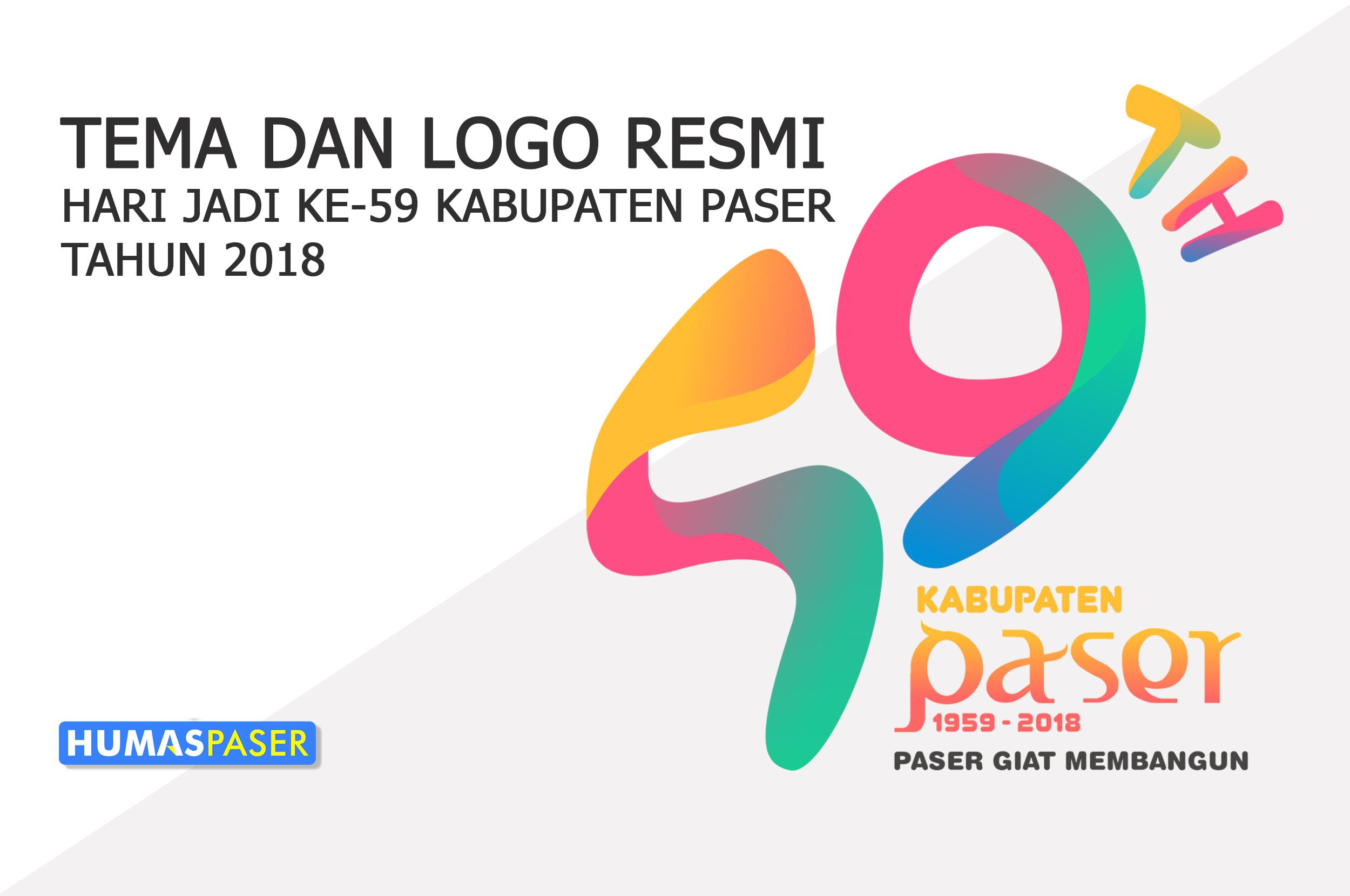 Pemkab Rilis Logo Tema Hari Jadi Kabupaten Paser 59 Tahun