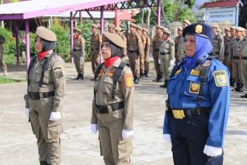 Anggota  Satpol PP & Damkar Bacakan UUD, Ikrar & Panca Wira Dengan  Lantang & Tegas Tanpa Teks