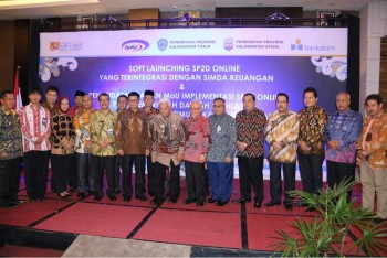 Yusriansyah Hadiri Soft Launching Implementasi SP2D Online