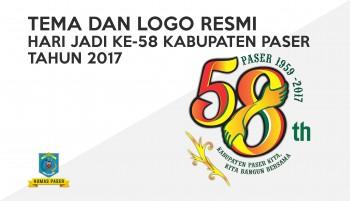 TEMA DAN LOGO RESMI HARI JADI KE-58 KABUPATEN PASER TAHUN 2017
