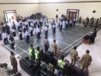 Sekda Kembali Lantik 45 Anggota BPD 9 Desa Muara Samu