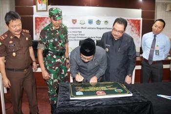 Bupati, Ketua DPRD & Dandim Tandatangani Prasasti Pusat Olahraga  Rekreasi