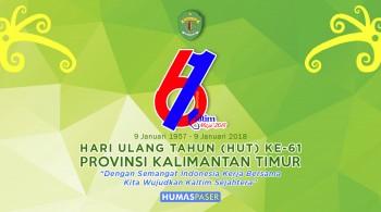 Peringatan Hari Ulang Tahun ke-61 Provinsi Kaltim Tahun 2018