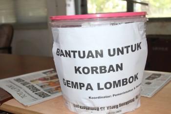 Bagian Pemerintahan Kumpul Dana Untuk Gempa Lombok, NTB