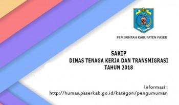 SAKIP Dinas Tenaga Kerja dan Transmigrasi Kabupaten Paser