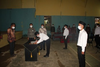 Sekda Lanjut Lantik BPD 4 Desa Tanjung Harapan