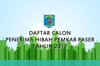 DAFTAR CALON PENERIMA HIBAH PEMKAB PASER TAHUN 2017