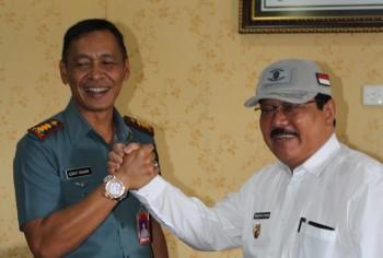 Komandan Lanal Silaturrahmi dengan Bupati