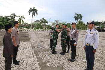 Upacara HBN ke-71 & Apel Gelar Pasukan Operasi Lilin Mahakam di Gelar Bersama