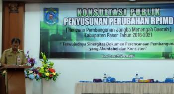Sekda Buka Konsultasi Publik Penyusunan Perubahan RPJMD
