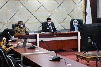 Bupati Fahmi Ikuti Musrebang Kaltim 2022 Via Virtual