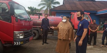 Tingginya Bencana Kebakaran, Masitah Silaturahim Support Damkar