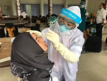 Pelantikan Bupati-Wabup Paser Dibatasi 25 Orang & Harus Rapid Test Antigen