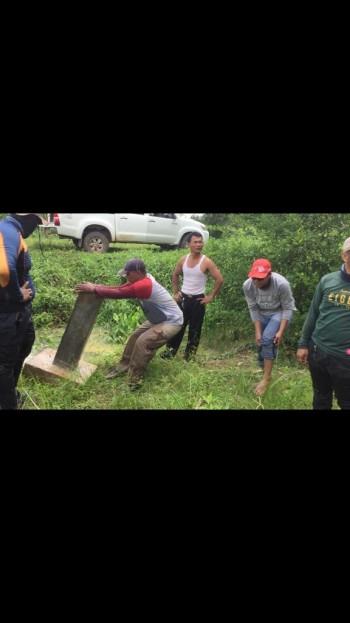 Medan Berat, Tim Lakukan Pemasangan Pilar Batas 200 Kilo