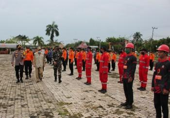 Wabup, Dandim & Kapolres Pimpin Apel Gelar Pasukan Penanggulangan Bencana