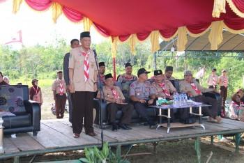 Wabup Pimpin Apel Hari Pramuka ke-58 di Muara Komam