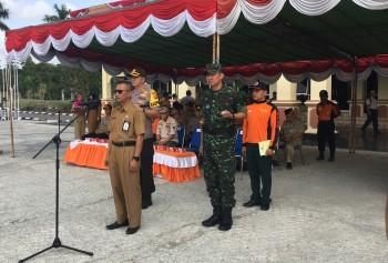 Pemkab Paser bersama TNI dan Polri Gelar Apel Siaga Karhutla