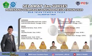 12 Siswa MAN IC Paser Menjuarai Olimpiade Sains Indonesia