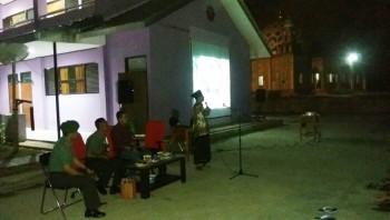 MAN IC Paser Nobar Film G30SPKI Dihadiri Dandim Letkol ARH Adrian Patra Candra.