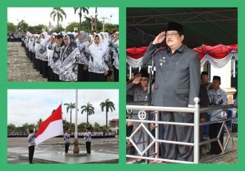 Bupati Pimpin Upacara HGN dan HUT ke-72 PGRI