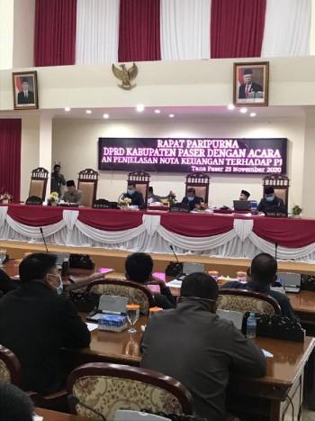 APBD Paser Tahun Anggaran 2021 Disahkan