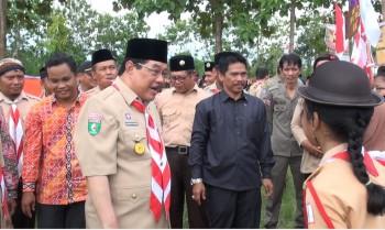 Bupati Buka Jambore Ranting Kwartir Ranting Pramuka Tanah Grogot