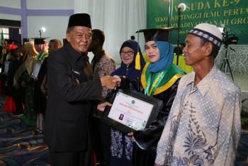 Wabup Hadiri Prosesi Wisuda Stiper Muhammadiya