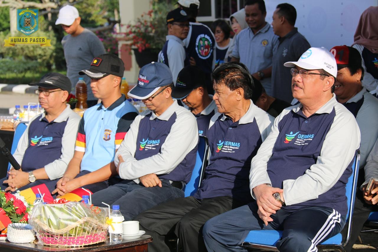 Bupati Paser menghadiri acara Pencanangan Germas Hidup Sehat Kab. Paser 2017