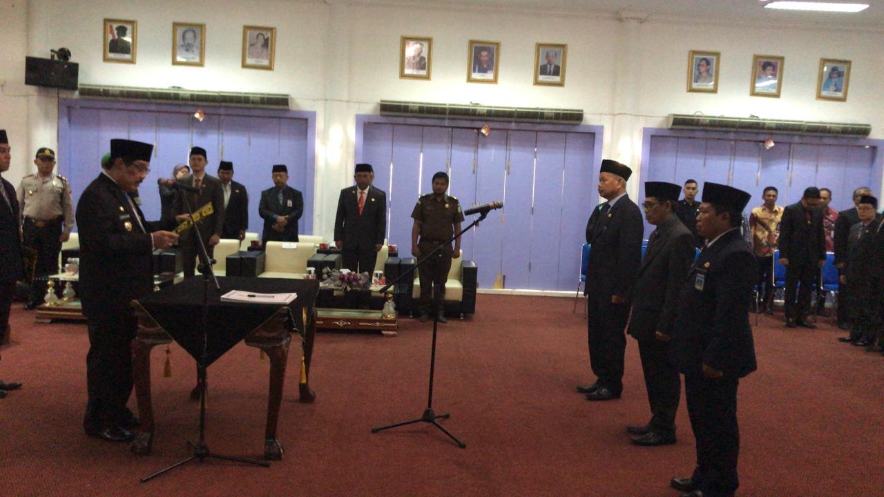 3 Pejabat Eselon II Hasil Seleksi di Lantik Bupati