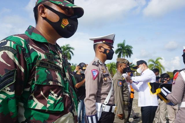Pimpin Apel Gelar Pasukan Operasi Ketupat 2021, Bupati Bacakan Sambutan Kapolri