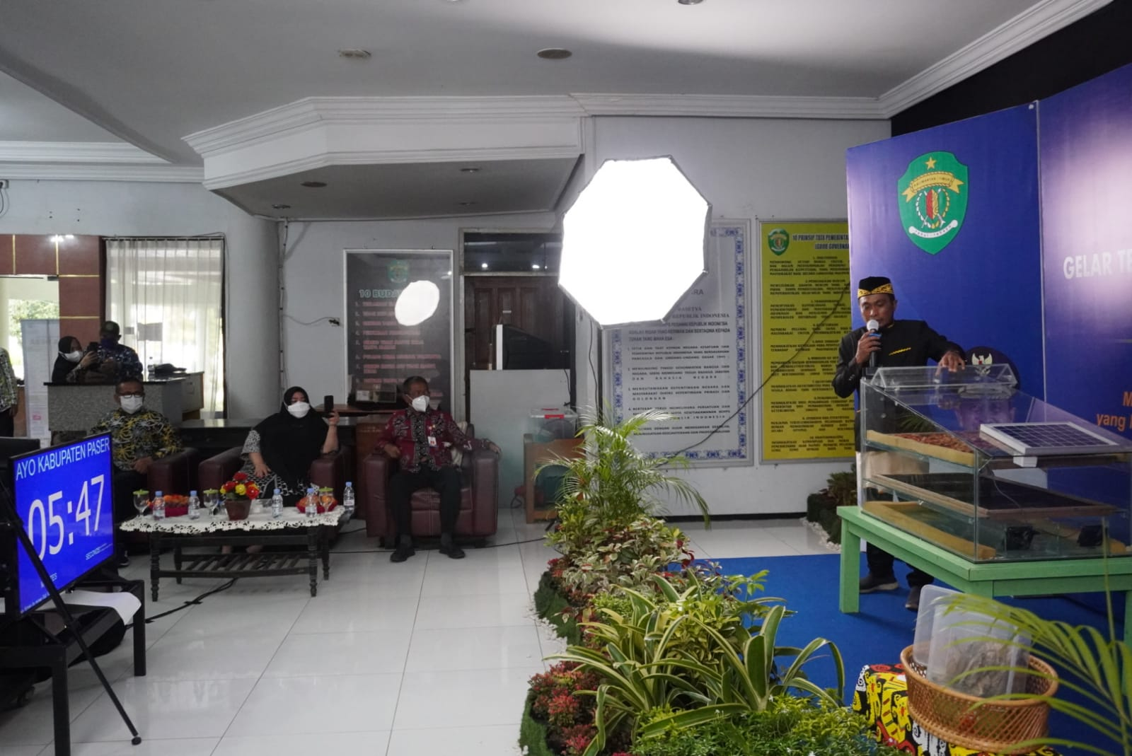 Hadir Beri Dukungan, Wabup Masitah Ingin Ali Maulana Berhasil Dalam Lomba TTG Unggulan Tingkat Nasional Tahun 2021