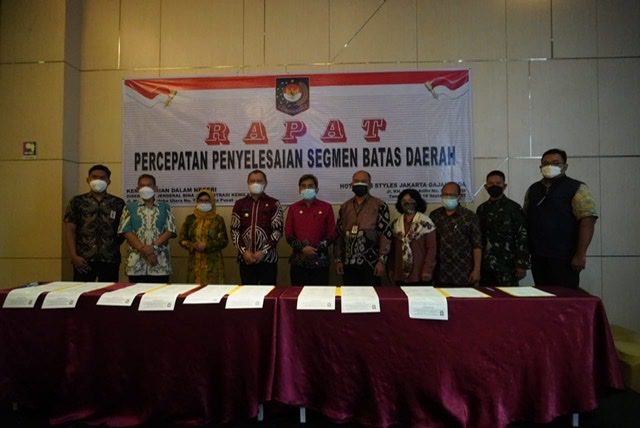 Percepatan Penyelesaian Segmen Batas Daerah Oleh Bupati Fahmi Hasilkan Kesepakatan Berita Acara