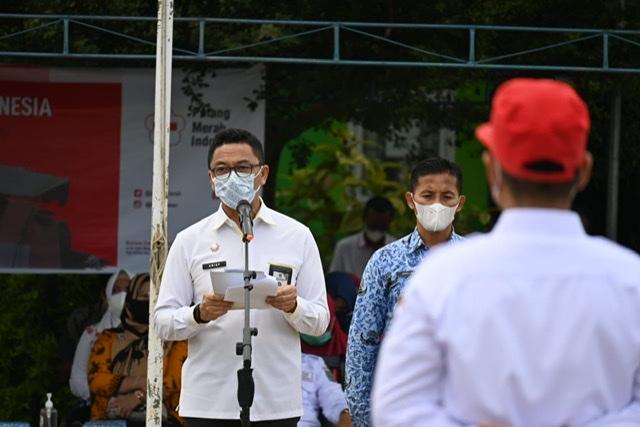 Pimpin HUT PMI ke-76, Staf Ahli Bupati Arief: Demi Keberlangsungan Hidup Masyarakat, Relawan PMI Terus Disiagakan