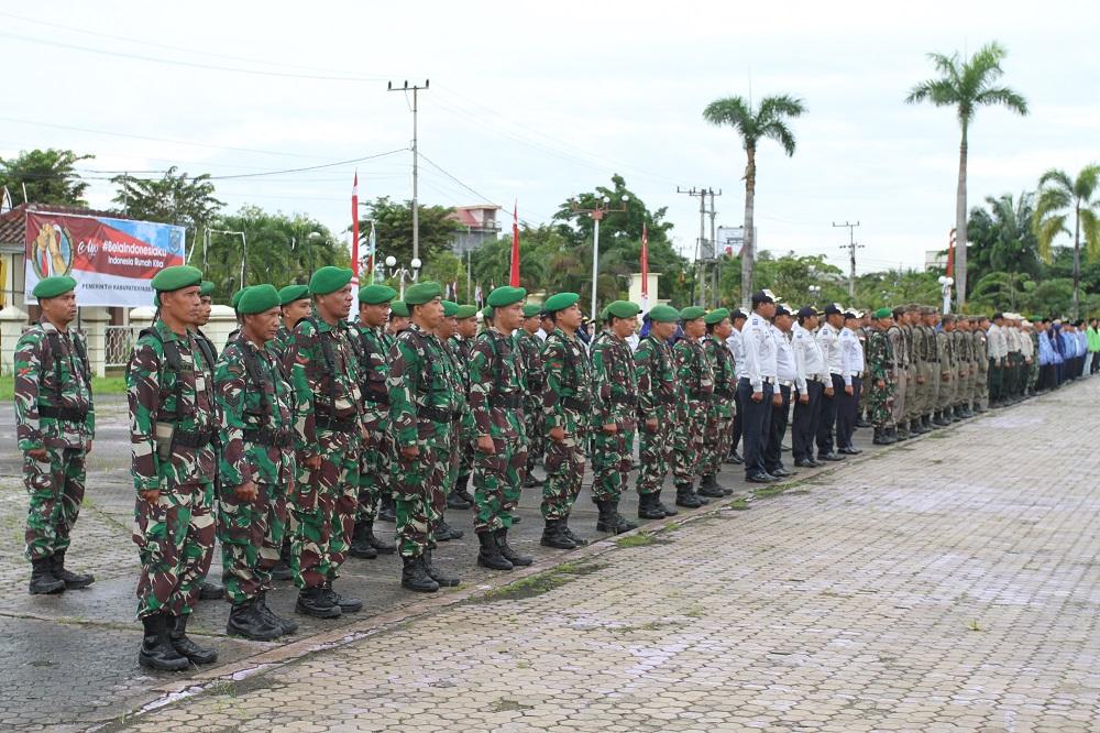 Gerimis, Upacara Hari Bela Negara di Pimpin Ketua PN Tanah Grogot