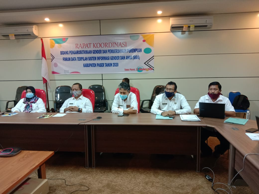 Tingkatkan Kualitas Data Gender dan Anak, Dinas P2KBP3A Gelar Rakor Data Terpilah Gender dan Anak Kabupaten Paser