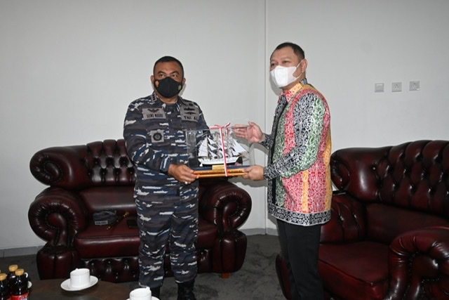 Bupati dr Fahmi Terima Kunjungan Danlanal Balikpapan