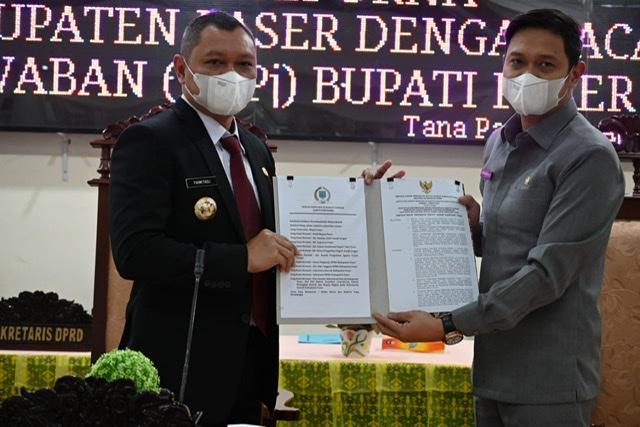 DPRD Sampaikan 17 Poin Rekomendasi LKPj Bupati Tahun Anggaran 2020