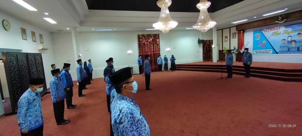 Upacara HUT Korpri, Asisten Administrasi Ingatkan Pegawai Netral di Pemilu Kada