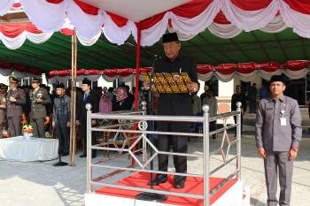 Wabup Inspektur,  Ketua DPRD Baca Ikrar. Peringatan Hari Kesaktian Pancasila
