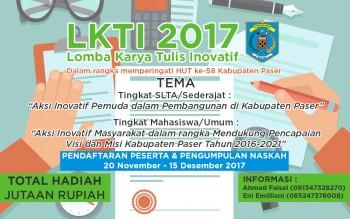 Berhadiah Jutaan Rupiah, Bappeda Gelar LKTI 2017