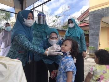 Gelar Posyandu Darurat Masa Pandemi, Sinta: Akses Pelayanan ibu Hamil  & Balita Tidak  Berhenti di Tengah  Pandemi ini