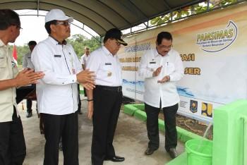Warga   Sambut Gembira Peresmian Sarana Air Bersih