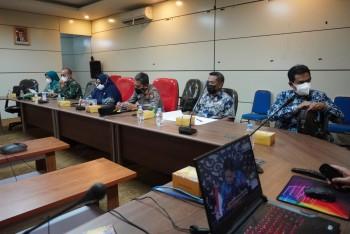 Wabup Rapat PPKM Level 4 dengan Beberapa Menteri