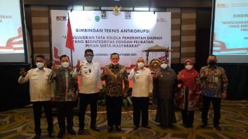 Hadiri Bimtek Antikorupsi KPK, Wabup Masitah : Bentengi Diri Agar Jangan Melakukan Tindakan Korupsi